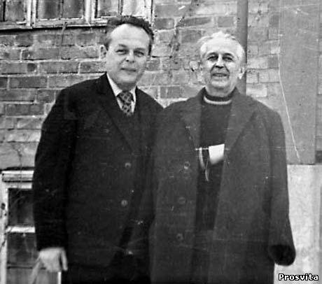 М.Василенко та Г.Кочур. 1973, Ірпінь.