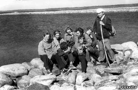 М.Василенко з друзями на Соловецькому острові. 1976
